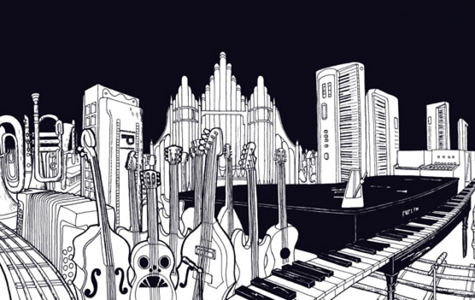 19 'Music City' – 54 x 21 cm, 2011