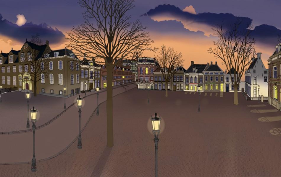 25 'Janskerkhof, Utrecht' – 114 x 50 cm, 2008