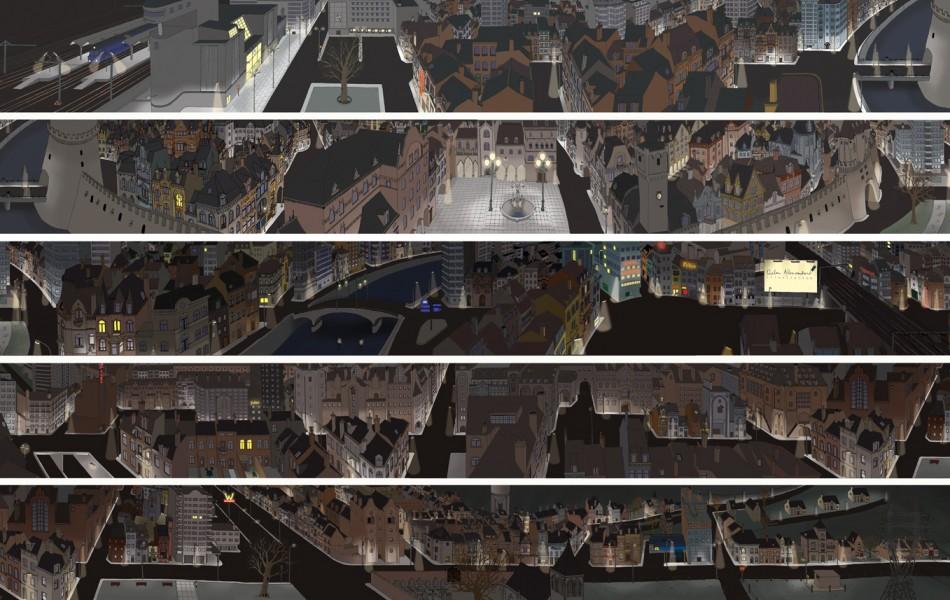 26 Fictional Belgian Town, +- 800 x 21 cm, 2007